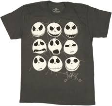 nightmare before many skellington faces official t