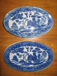Vintage China Patterns by Antique Vintage 1940 50 U0027s Blue Willow Child U0027s Tea Set 2 Oval
