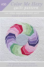 geometric wall hanging applique quilt pattern