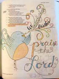 bible journaling psalm 150 6 let everything that has breath praise