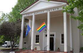Porch Flag Pride Flag Over First Baptist Church Humans Of Silicon Valley