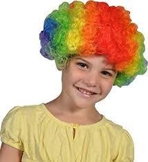 Rainbow Halloween Costume Amazon Crazy Hair Rainbow Clown Jester Halloween Costume Wig