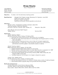 Unc Resume Builder Examples Of Elementary Teacher Resumes Resume Example And Free