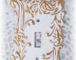 double toggle victorian rose crown wall plate ornate vintage
