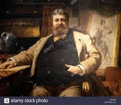 h h richardson architect 1886 herbert von herkomer stock photo