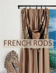 artistica french style curtain rod 5 8 diameter