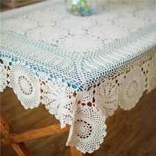 lace vinyl table covers rectangular crochet table topper oblong table cloth hand crochet