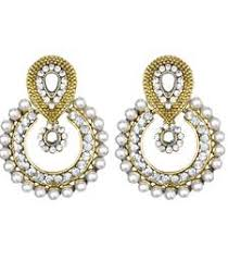 Buy Kundan Embellished Dangler Earrings Danglers Online Shopping Buy Drops Earrings Jewelry Designs