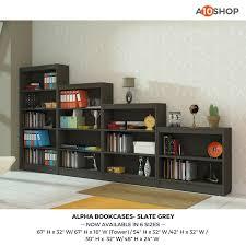buy alpha bookshelf u0026 storage cabinet with 2 shelf 24