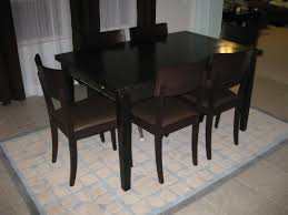 dining room brown wooden crate and barrel dining chairs for