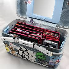 amazon com 3 beauty butler portable makeup palettes pink no