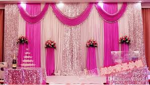 cheap backdrops fashion fuchsia color wedding backdrops with swag wedding drapery