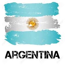 Latin Country Flags Flag Of Argentina From Brush Strokes In Grunge Style Isolated