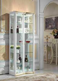 american latest wooden furniture living room glass showcase