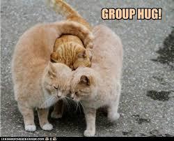 Give Me A Hug Meme - group hug i can has cheezburger