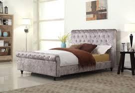Crushed Velvet Bed Stella Crushed Velvet Pewter Bed Bedz Online