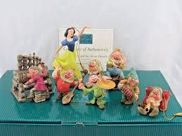wdcc snow white and the seven dwarfs ornament set disney in box