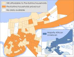 Map New Orleans by Where Will Working Poor Live In Future New Orleans If