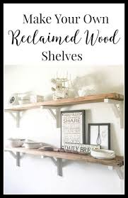 Reclaimed Wood Shelves by How I Built Reclaimed Wood Shelves