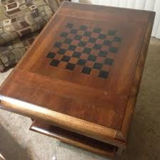 chess board coffee table how to make a custom chess board from an old wooden table for under