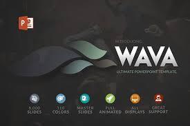 wava powerpoint template presentation templates creative market
