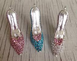 glass slipper charm etsy