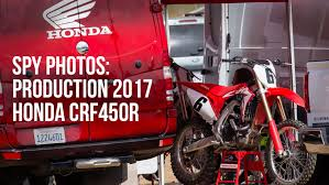 honda motocross bike spy photos the production 2017 honda crf450r motocross feature
