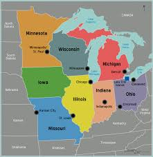 Blank Map Of Midwest States by Usa Map Midwest My Blog