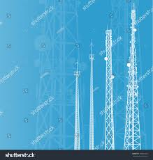 Radio Base Station Equipment For Gsm Telecommunications Tower Radio Mobile Phone Base Stock Vector
