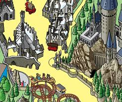 harry potter adventure map the wizarding of harry potter rides attractions