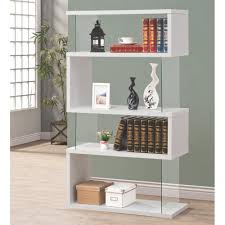 white bookcase venetian worldwide lorenz glass and white bookcase v 800300 the
