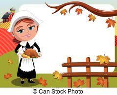 vector of thanksgiving day horizontal frame pilgrim turkey