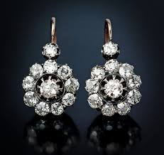diamond earrings for sale russian imperial era diamond earrings vintage jewelry from