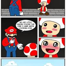 super mario decides toad pricess