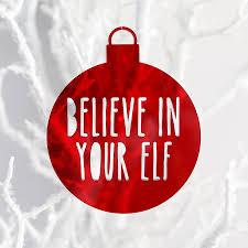 believe in your elf christmas ornament sandra dillon design