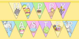 Easter Decorations Bunting by Happy Easter Display Bunting Bunting Decorations Display