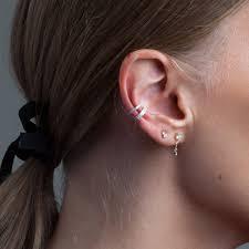 ear cuff wide pavé ear cuff adina reyter