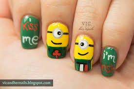 vic and her nails viccopycat st patrick u0027s day minions by nail