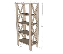 ana white build a rustic x tall bookshelf free and easy diy