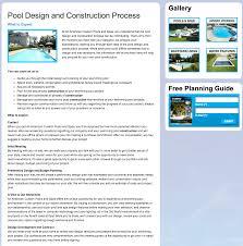client profile all american custom pools u0026 spas pool marketing site