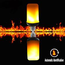 led flame effect fire light bulbs 3 modes gravity sensor e27 e26 led flame effect fire light bulb 9w