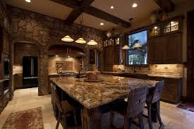 rustic kitchen islands with seating kitchen design small rustic cabin kitchen design with l shaped