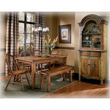 Ashley Curio Cabinets Dining Room Furniture D199 25 Ashley Furniture Rectangular Dining Room Table
