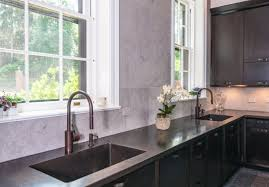 Copper Floor L Kitchen Black L Shape Kitchen Cabinet Copper Sink Stainless