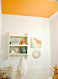 Tangerine Home Decor My Tangerine Ceiling A Powder Room Makeover With A Pop Of Color