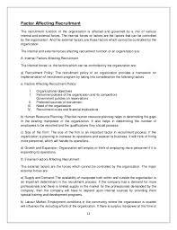 summer internship on recruitment and selection 2 last