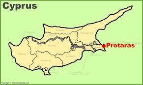 Map Of Cyprus Protaras Maps Cyprus Maps Of Protaras