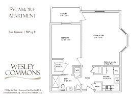 Floor Plan For 1 Bedroom Apartment by Apartments U2013 Wesley Commons