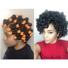 perm rod set natural hair youtube