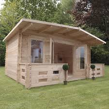 wood cabin waltons 5m x 3m woburn log cabin with veranda waltons sheds